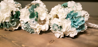 3 wedding Bouquets and other Decore