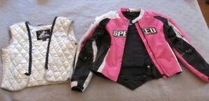 Women's Motorcycle Jacket, Pants, Helmet+ Gloves - Full Set $225