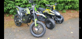 Electric quad and motorbikes wanted