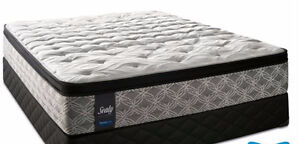 Sealy Super Nova Cushion Firm Queen Mattress and Boxspring Set