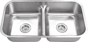 New - Double stainless steel kitchen sinks