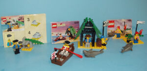LEGO PIRATES, LOT DE 3 ANCIENS SETS no 1481 - 1802 - 6258