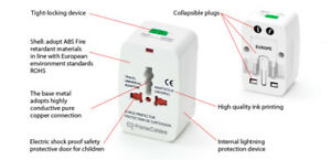 International Adapter Universal With Power Surge