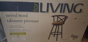 Cushioned Swivel Bar Stools - set of 2 New In Boxes