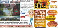 Fall Sale Model Builders Supply