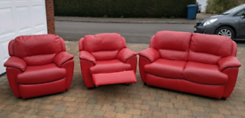 Leather 3 piece suite - Nottingham