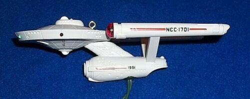 Hallmark 1991 Star Trek U.S.S. Starship Enterprise Magic Lighted Blink Ornament