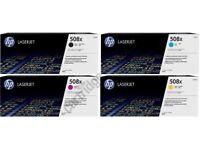HP 508X Rainbow Toner Pack K(12.5k) CMY(9.5k) New original boxed BARGAIN!!!