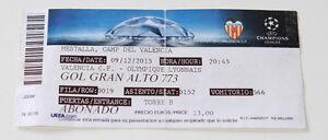 Ticket for collectors CL Valencia CF - Olympique Lyon 2015 Spain France - Internet, Polska - Ticket for collectors CL Valencia CF - Olympique Lyon 2015 Spain France - Internet, Polska