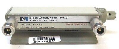 Hp 8496b 18 Ghz 0 To 110 Db 10 Db Manual Step Attenuator Opt 001 W Type Nf