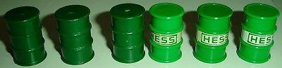 Vintage Hess Truck Oil Barrels Replacement Parts Drums