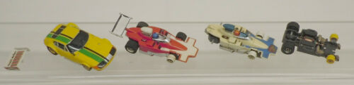 Vintage Aurora AFX G Plus Indy F1 & Yellow Ferrari Daytona HO Slot Car Lot