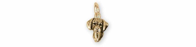 Rhodesian Ridgeback Jewelry 14k Gold Handmade Rhodesian Ridgeback Charm  RDG8-CG