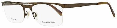Ermenegildo Zegna Semi-Rimless Eyeglasses EZ5079 034 Bronze/Brown Horn 55mm (Semi Rimless)