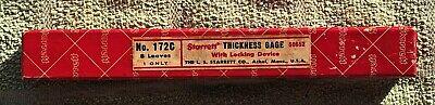Vintage The L.s. Starrett No. 172c Thickness Gage In Original Box