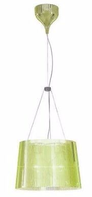 Green Kartell GE pendant lampin Islington, LondonGumtree - Kartell Ge suspension/pendant light, model 9080, Green moulded ribbed transparent polycarbonate with matching ceiling rosette dia 37cm x h 26cm cable adjustable according to height required, bulb included as new £75