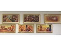 x6 Paintings (Indian Folk) - Rarely Used. Very Good Condition.