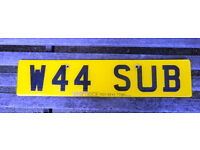 NUMBER PLATE / CHERISHED REGISTRATION - W44SUB - IDEAL FOR SUBARU, SUB-OFFICER