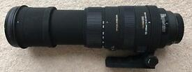 Sigma 150-500mm OS DG Canon fit lens + Free Hoya filter. Excellent condition