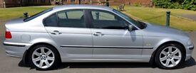 Silver BMW 320i SE Auto. 4dr. 12 months MOT. Excellent condition