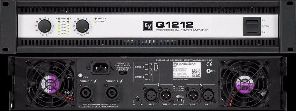 ev q1212 power amp in heathrow london gumtree. Black Bedroom Furniture Sets. Home Design Ideas