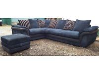 Corner Sofa Navy Blue. Local delivery available