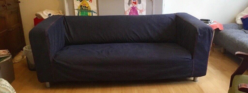 IKEA Klippan Sofa. Good Used Condition. Removable, Machine Washable Denim  Cover.