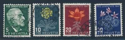 Schweiz Nr. 488-491 gestempelt, Pro Juventute 1947 (39190)