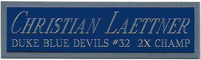 CHRISTIAN LAETTNER DUKE NAMEPLATE FOR AUTOGRAPHED Signed JERSEY-BASKETBALL-PHOTO