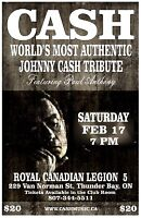CASH   Authentic JOHNNY CASH TRIBUTE ** SECOND SHOW Added