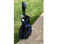 Master Junior Golf Clubs & bag blue/black