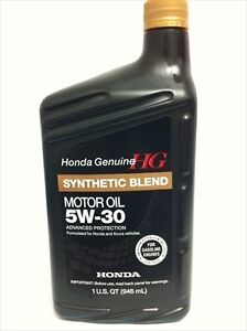 Honda Genuine 5w 30 Motor Oil 12 By Exxon Mobil