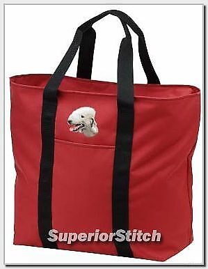 BEDLINGTON TERRIER embroidered tote bag ANY COLOR