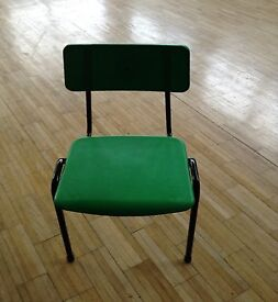 Infant child green chair