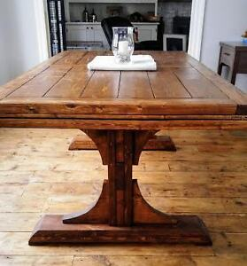 Pedestal Trestle Table