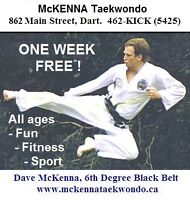 TAEKWONDO - BEGINNER CLASSES - ONE WEEK FREE