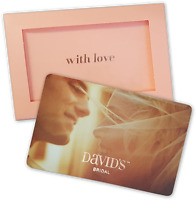 DAVIDS BRIDAL GIFT CARD RECEIPT STORE CREDIT
