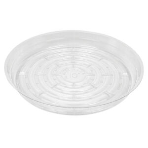 Clear Poly Plastic Plant Pot Saucer - 10""
