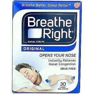 Breathe Right Nasal Strips Stop Snoring Drug-Free Original T