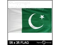 Large 5 by 3 Pakistan flag new £6 each or 2 for £10