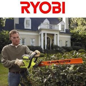 NEW RYOBI CORDLESS HEDGE TRIMMER 24 in. 40-Volt Lithium-ion - Battery and Charger Not Incl 108818733