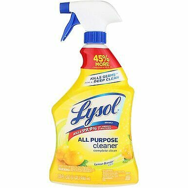 Lysol All-Purpose Cleaner Trigger Spray, Lemon Breeze, 32 fl oz