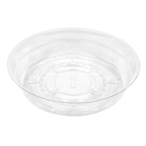 "Clear Poly Plastic Plant Pot Saucer - 6"" (Set of 2)"