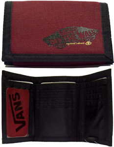 VANS LOGO FOLD UP WALLETT STYLE RUMMY - RED