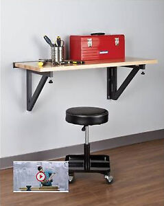 wall mount work table / bench