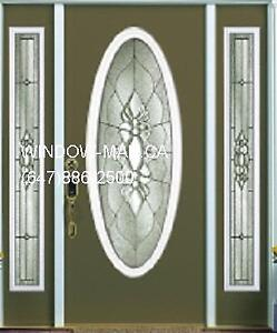 Door Front Entry TwoSideLights  White