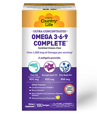 Country Life Ultra Omega 3•6•9 (180 Softgels)