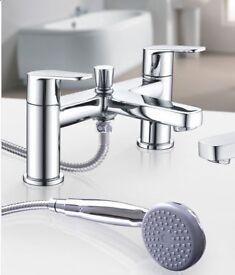 Modern Chrome Mixer Tap Bath Shower Attachment