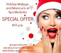 Holiday Makeup and Manicure at Spa Muskoka & mobile