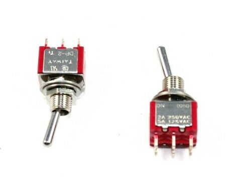 DPDT, ON/MOM, Minature Toggle Switch,